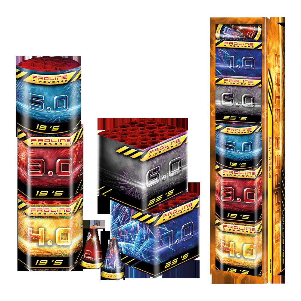Copper Star Selection - proline-fireworks